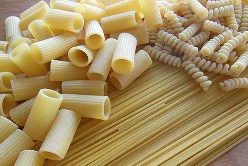 Picture of penne, spaghetti, and fusilli