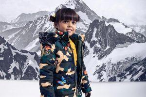 Beautiful girl in camouflage print!